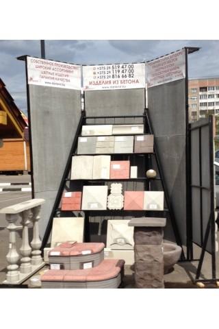 Стенд с образцами на Северном рынке